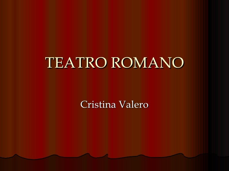TEATRO ROMANO Cristina Valero
