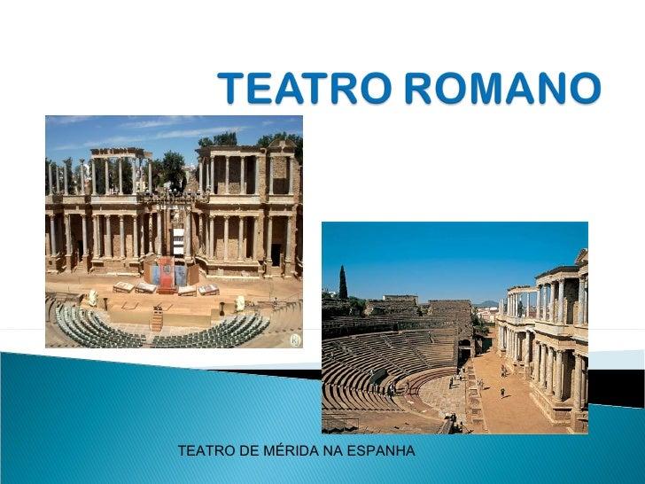 TEATRO DE MÉRIDA NA ESPANHA