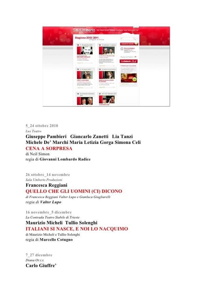 5_24 ottobre 2010 Lux Teatro Giuseppe Pambieri Giancarlo Zanetti Lia Tanzi Michele De' Marchi Maria Letizia Gorga Simona C...