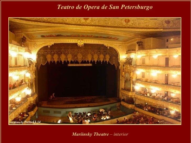 Teatro de Opera de San Petersburgo Mariinsky Theatre  – interior