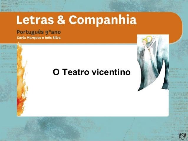 O Teatro vicentino