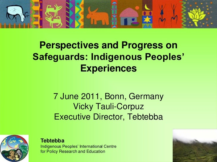 Perspectives and Progress onSafeguards: Indigenous Peoples'         Experiences       7 June 2011, Bonn, Germany          ...