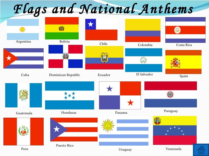 Spanish Speaking Countries Capitals and Flags