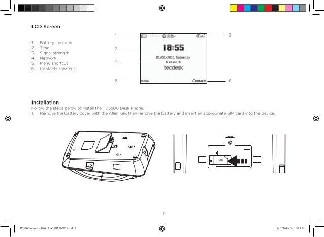 Tecdesk 3500/3600 Desk Phone