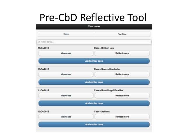 Pre-CbD Reflective Tool