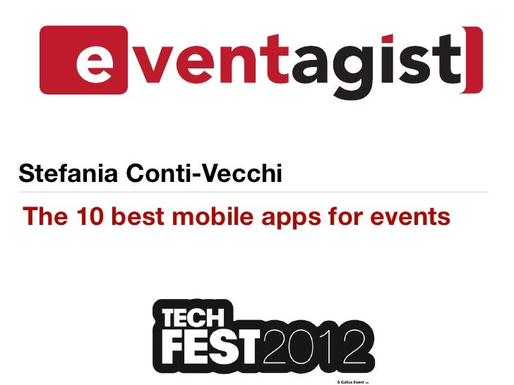 Stefania Conti-VecchiThe 10 best mobile apps for events