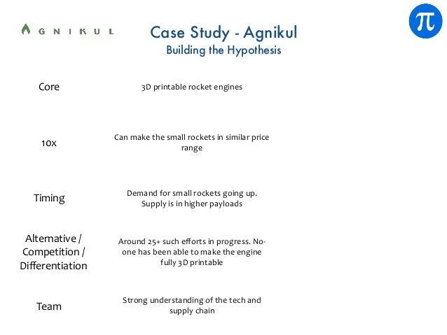 Case Study - Agnikul Building the Hypothesis Core 10x Team Around25+sucheffortsinprogress.No- onehasbeenabletoma...