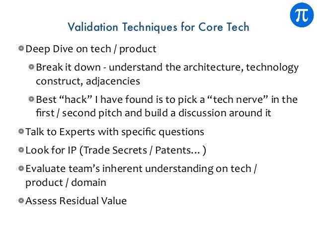 Validation Techniques for Core Tech DeepDiveontech/product Breakitdown-understandthearchitecture,technology ...