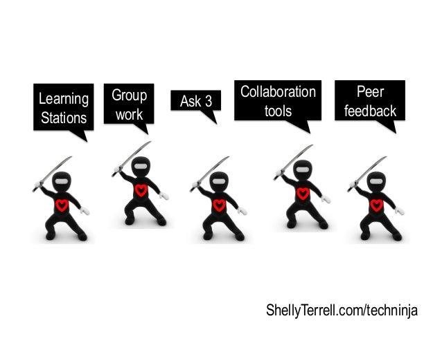 ShellyTerrell.com/techninja Group work Learning Stations