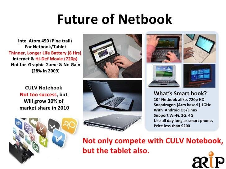 Future of Netbook Intel Atom 450 (Pine trail)  For Netbook/Tablet Thinner, Longer Life Battery (8 Hrs)   Internet &  Hi-De...