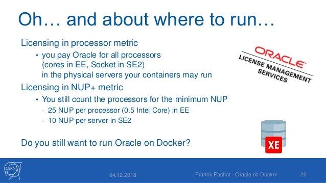 Oracle Database on Docker