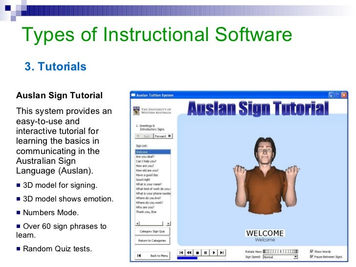 Types Of Instructional Software