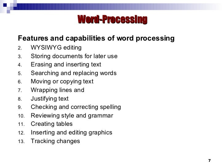 applications wordprocessing spreadsheet amp database