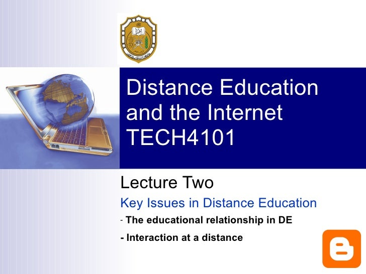 Key Issues in Distance Education Slide 2