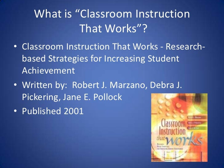 classroom instruction that works strategies