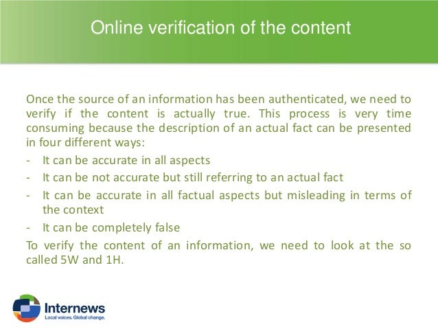 Falsification of the Content