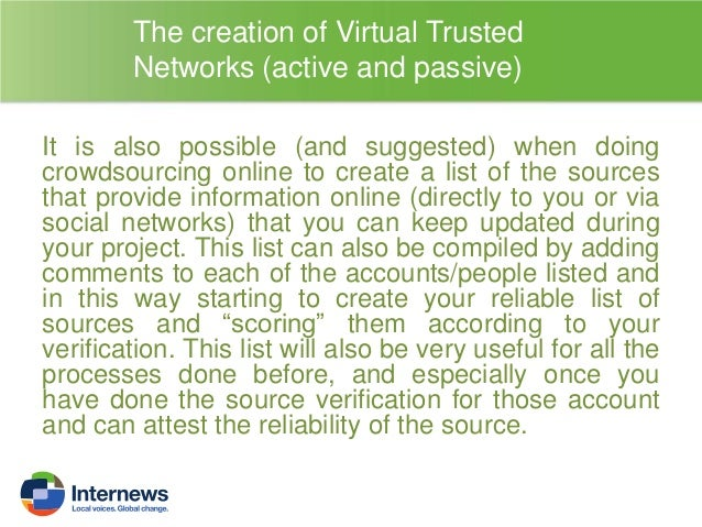 THE VERIFICATION OF THE CONTEXT