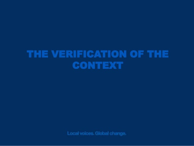 Context Matters The understanding of the context of an information it is crucial to give a sense to what has really happen...