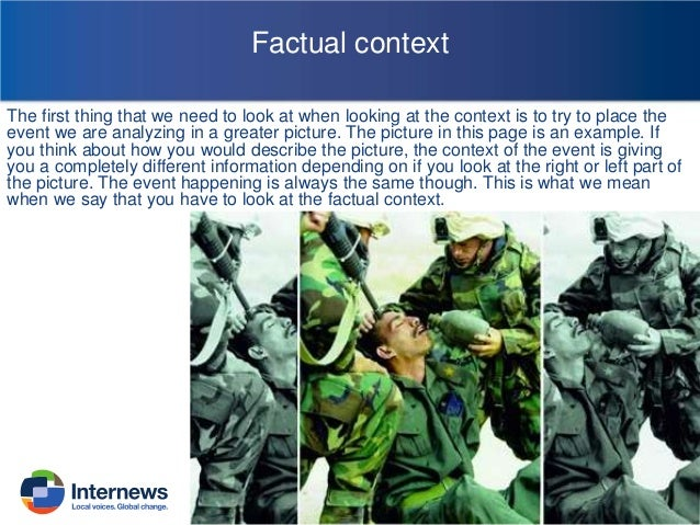 Global context The global context refer to the international context around that event. Sometimes political crisis outside...