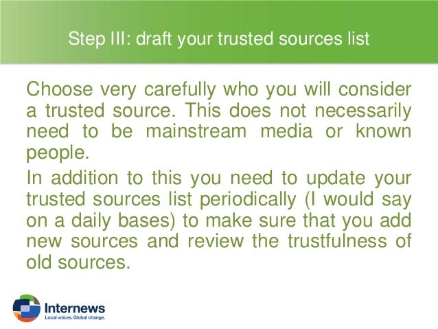 Step IV: Draft your verification protocols and stick to it  Once you have drafted your verification protocols, make sure y...