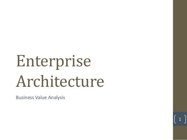 EnterpriseArchitectureBusiness Value Analysis                          1