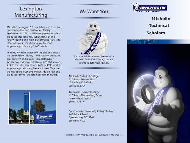 Lexington Manufacturing  We Want You Michelin Technical  Michelin's Lexington, S.C. site is home to its radial passenger p...