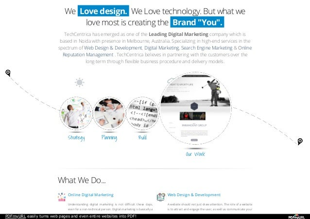 PDFmyURL easily turns web pages and even entire websites into PDF! We Love design. We Love technology. But what we love mo...