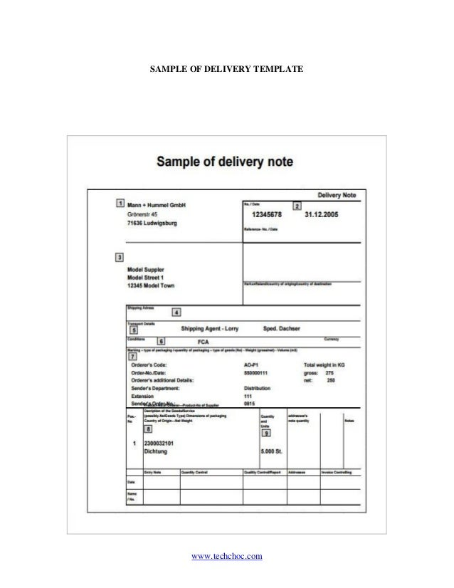 Perfect ... SAMPLE OF DELIVERY TEMPLATE And Goods Received Note Format