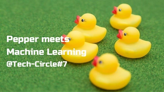 Pepper meets Machine Learning @Tech-Circle#7