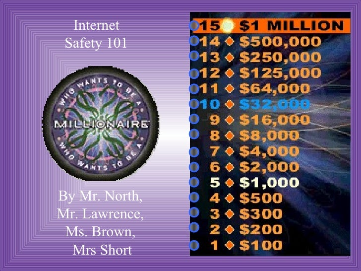 Internet Safety 101 By Mr. North,  Mr. Lawrence,  Ms. Brown,  Mrs Short