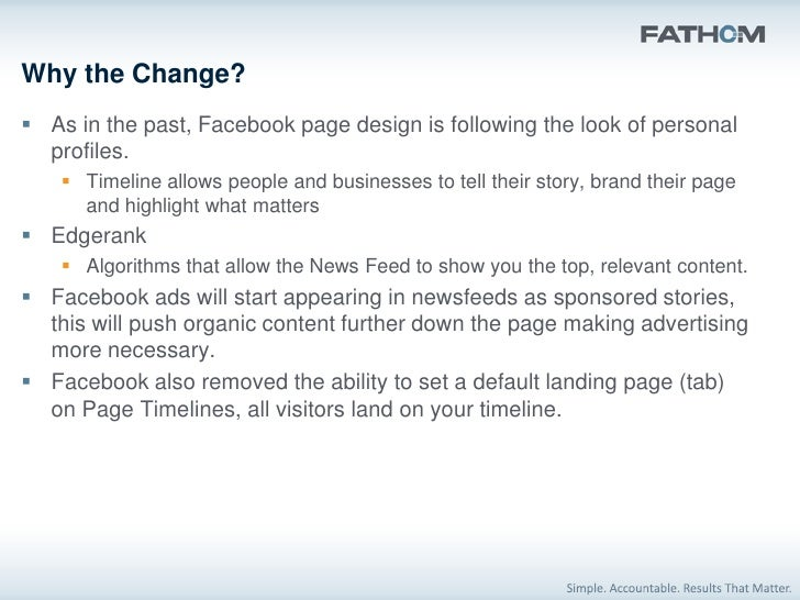 What you should do differently on Facebook Create your business page timeline           Cover Photo           Update ta...