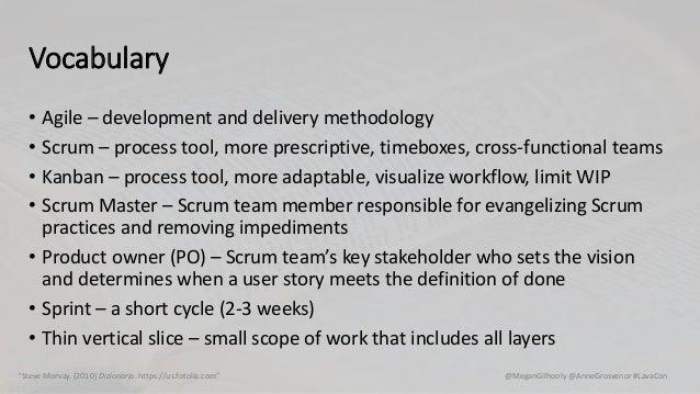 "@MeganGilhooly @AnneGrosvenor #LavaCon""Steve Morvay. (2010) Dizionario. https://us.fotolia.com"" Vocabulary • Agile – devel..."