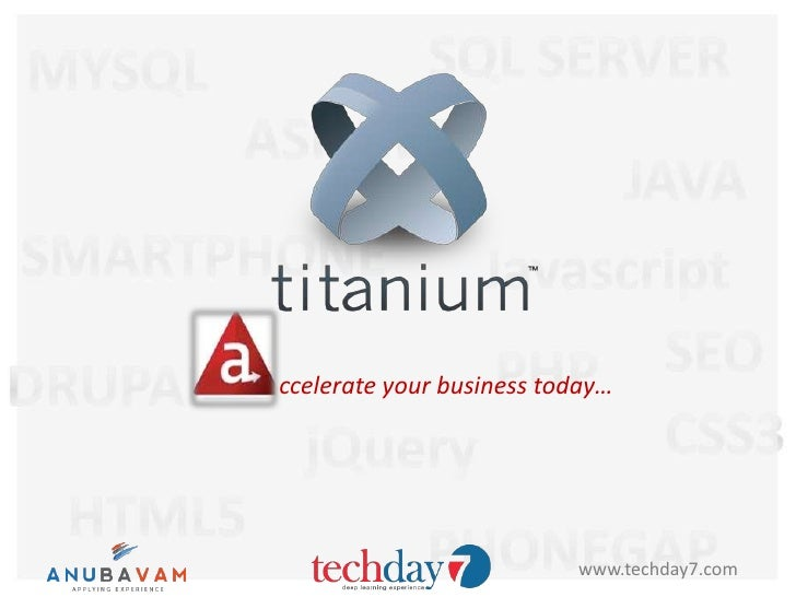 ccelerate your business today…                          www.techday7.com