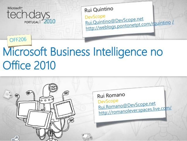 Microsoft Business Intelligence no Office 2010