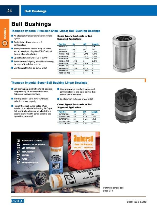 1-1//4 Shaft Diameter 1-1//4 Shaft Diameter Fixed Diameter Closed Thomson A203242-SP Precision Bushed Ball Bearing