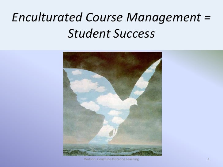 1<br />1<br />Watson, Coastline Distance Learning<br />Enculturated Course Management = Student Success<br />