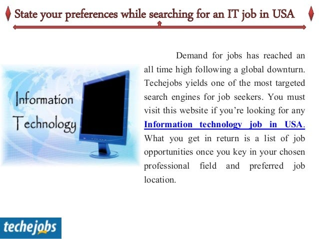 Find the best IT jobs in US with a click of your mouse