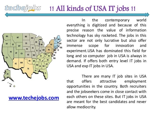 Techejobs is a well-reputed USA based job site catering to the inform…