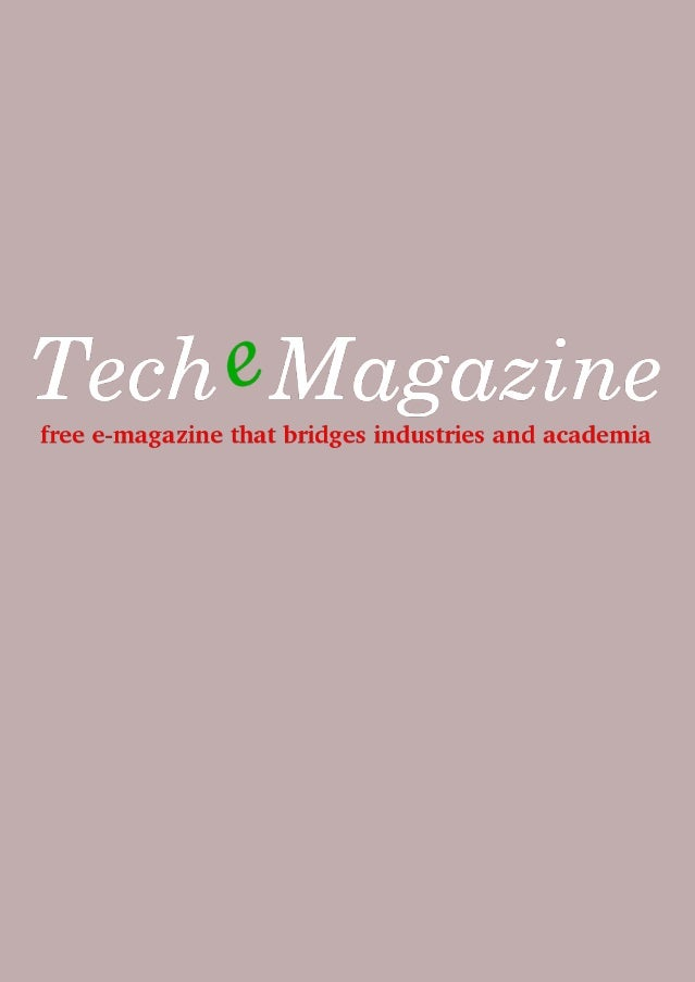 TecheMagazine is collaboratively produced by an independent group. It is prohibited to commercially produce this magazine ...