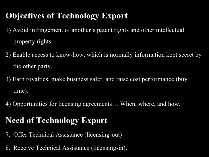 Technology Exports And Joint Ventures