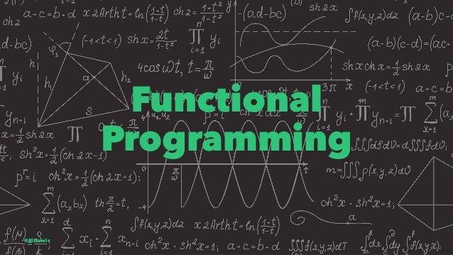 Functional Programming @EliSawic