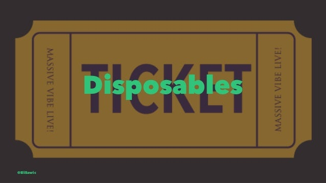 Disposables @EliSawic