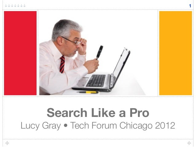 Search Like a Pro Lucy Gray • Tech Forum Chicago 2012 1