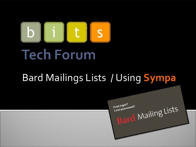 Bard Mailings Lists / Using Sympa