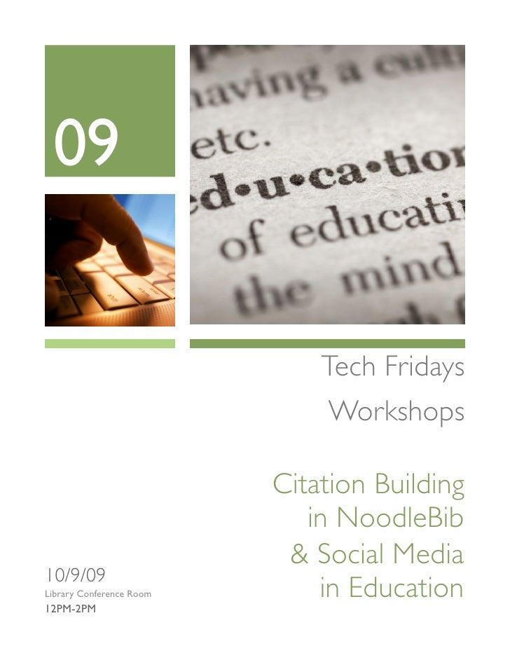 09                                 Tech Fridays                                Workshops                            Citati...