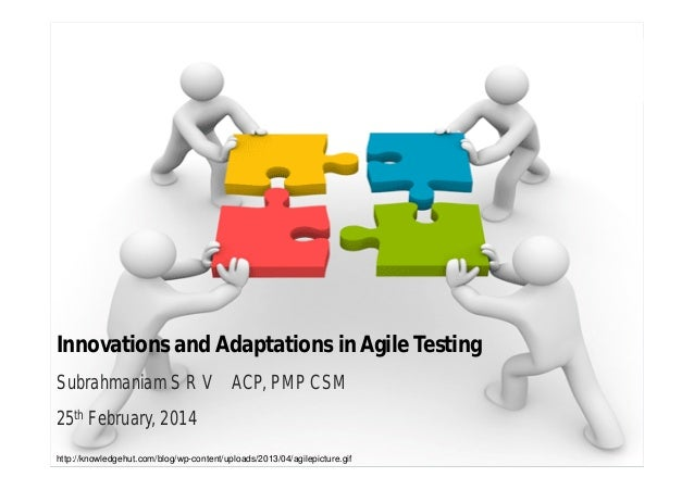 Innovations and Adaptations in Agile Testing Subrahmaniam S R V ACP, PMP CSM 25th February, 2014 http://knowledgehut.com/b...