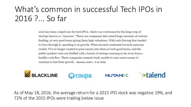 Typical tech ipo price