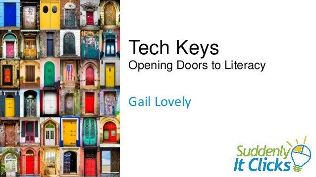 Tech Keys Opening Doors to Literacy Gail Lovely
