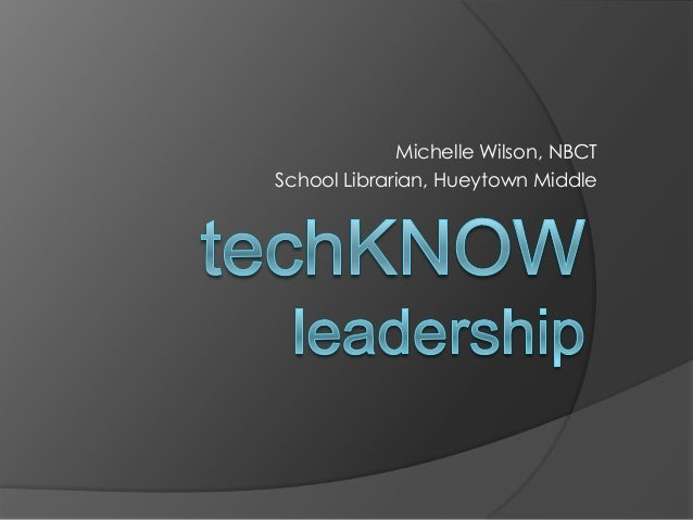 Michelle Wilson, NBCT School Librarian, Hueytown Middle