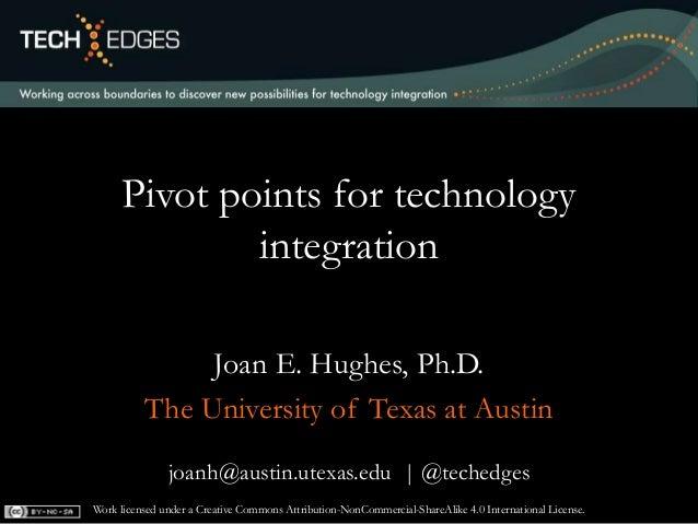 joanh@austin.utexas.edu | @techedges Pivot points for technology integration Joan E. Hughes, Ph.D. The University of Texas...